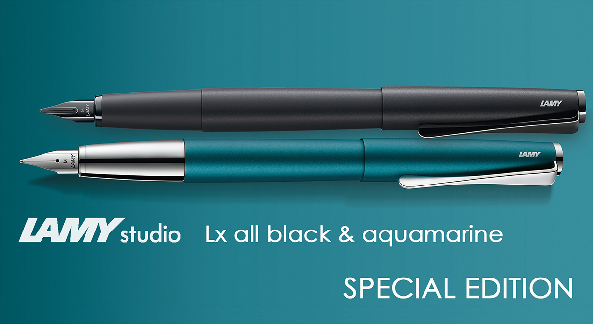 Lamy Studio Lx All Black and Aquamarine Special Edition